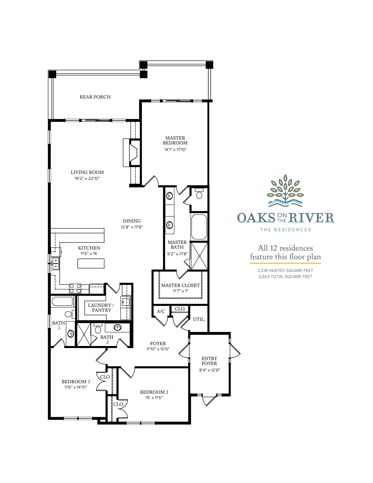 Oaks on the River Floorplan